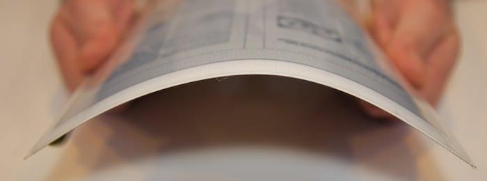 Гибкий экран достиг толщины не более бумажного листа!