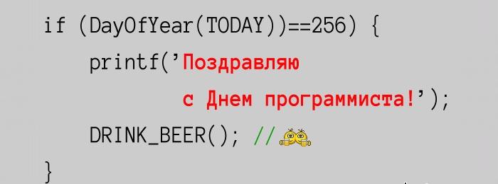 С Днем программиста!!!