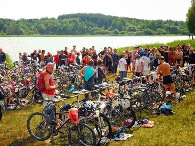 Транзитная зона соревнований Half-Ironman 2013 года