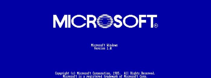 Любопытные факты о Windows 1.0, которые вы наверняка не знаете