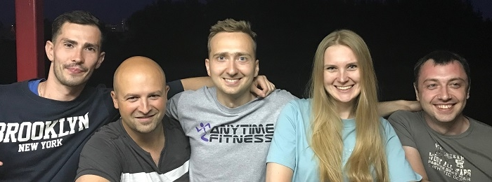Тимбилдинг команды Anytime Fitness редко, но с Delivery manager